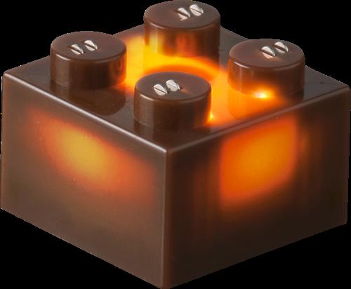 25 x STAX® 2x2 Braun matt - LEGO®-kompatibel