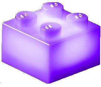25 x STAX® 2x2 Lila matt - LEGO®-kompatibel