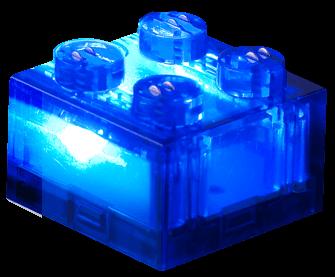 25 x STAX® 2x2 Blau transparent - LEGO®-kompatibel