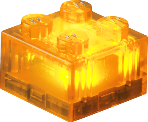 25 x STAX® 2x2 Orange transparent - LEGO®-kompatibel