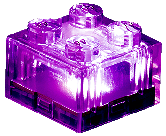 25 x STAX® 2x2 Lila transparent