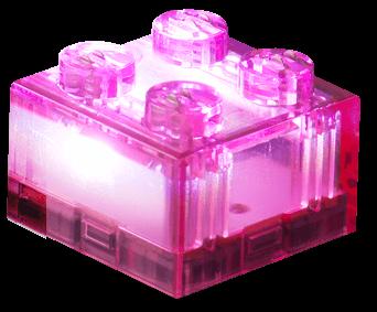 25 x STAX® 2x2 Pink transparent - LEGO®-kompatibel