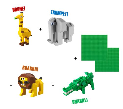 STAX® Wildlife Set - LEGO®-kompatibel