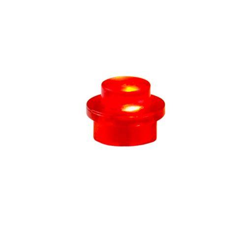 25 x STAX® 1x1 Rot transparent  - LEGO®-kompatibel
