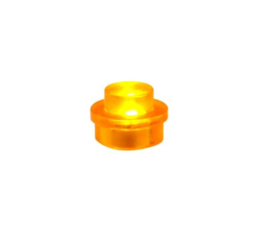 25 x STAX® 1x1 Orange transparent - LEGO®-kompatibel