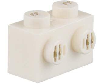 25 x STAX ® Angle connector 2x2x2 Weiß matt - LEGO®-kompatibel