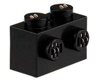 25 x STAX ®  Angle connector 1x2 Schwarz matt