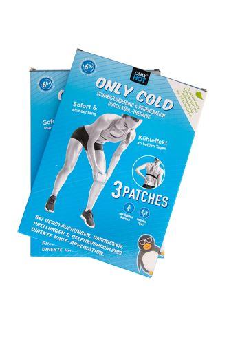 ONLY COLD Kühlpflaster Doppelpack (2 Sets à 3 Pflaster)