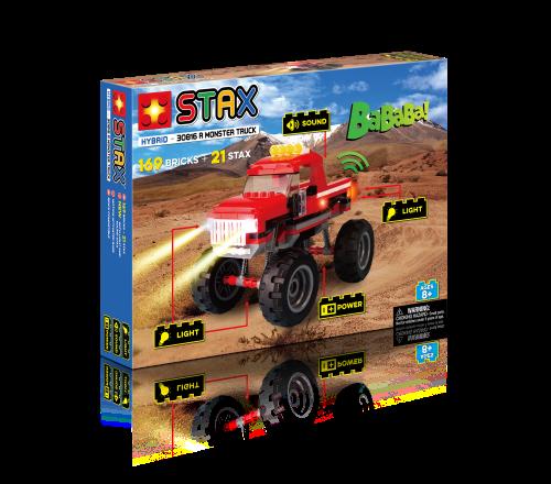 STAX ® Roter Monster Truck - LEGO®-kompatibel