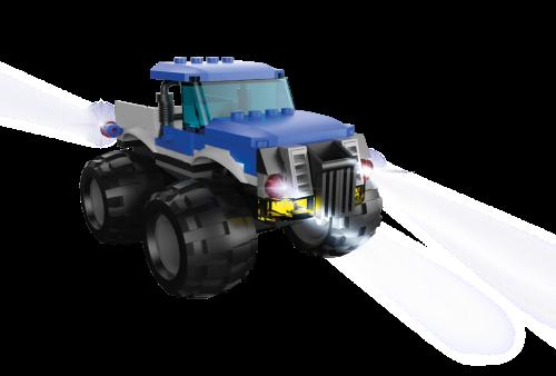 STAX ® Blauer Monster Truck - LEGO®-kompatibel