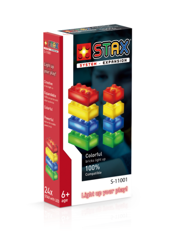 STAX® Expansion Pack - red, yellow, blue & green - LEGO®-kompatibel