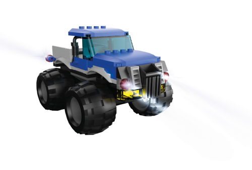 STAX ® Blauer Monster Truck 39813 - LEGO®-kompatibel