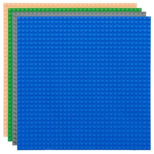 Strictly BRIKS LBPM324E4 Bauplatte 32x32 Vier-Pack Blau-Grau-Grün-Sand