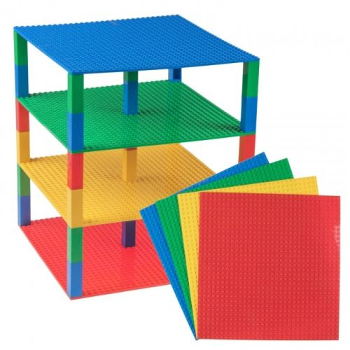 Strictly BRIKS LTW32430MP4 BRIK Tower 4 Floors 32x32 Studs Blue, Green, Red, Yellow with 30 Stackers