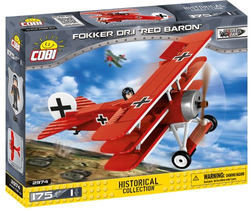 COBI - 2974 Small Army Fokker Dr.1 Red Baron