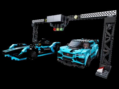 LEGO® - Speed Champions Formula E Panasonic Jaguar Racing GEN2 car & Jaguar I-PACE eTROPHY 76898