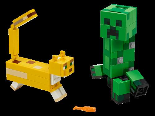 LEGO® - Minecraft - BigFig Creeper und Ozelot 21156