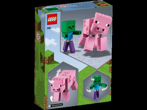 LEGO® - Minecraft - BigFig Schwein mit Zombiebaby 21157