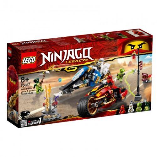 LEGO® - Ninjago - Kais Feuer-Bike & Zanes Schneemobil 70667