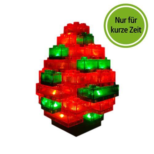 STAX® Osterei rot/grün transparent - LEGO®-kompatibel