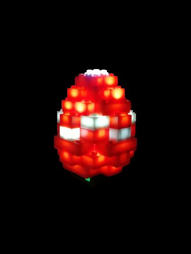 STAX® Osterei rot/weiß - LEGO®-kompatibel