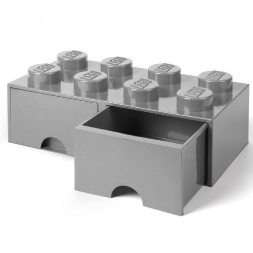 LEGO® 4004 Storage Brick Schublade 2x4 Grau
