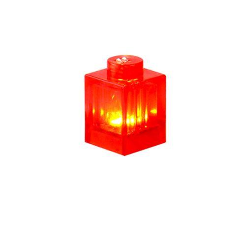 25 x STAX® 1x1 Rot transparent eckig - LEGO®-kompatibel
