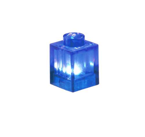 25 x STAX® 1x1 Blau transparent eckig  - LEGO®-kompatibel