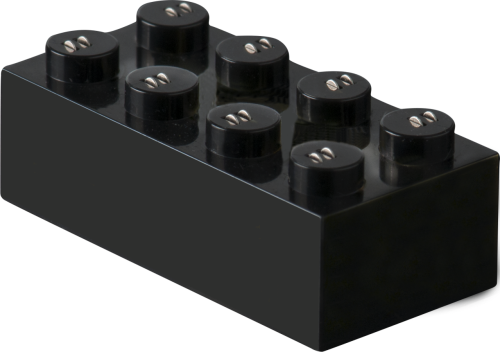 25 x STAX® Connector 2x4 Schwarz