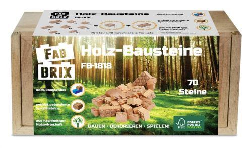 FabBrix Holz-Bausteine 70 Steine - FB-1818