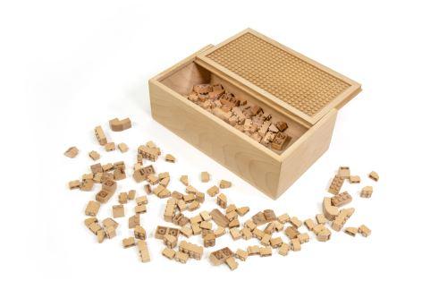 FabBrix Holz-Bausteine 150 Steine - FB-1819