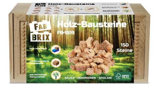 FabBrix Holz-Bausteine 150 Steine