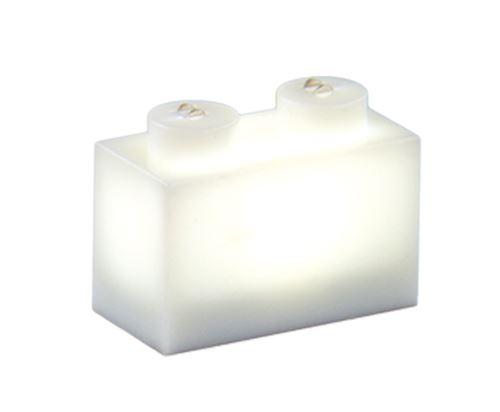 25 x STAX® 1x2 Weiß matt - LEGO®-kompatibel