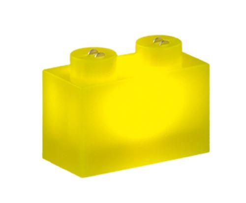 25 x STAX® 1x2 gelb matt - LEGO®-kompatibel
