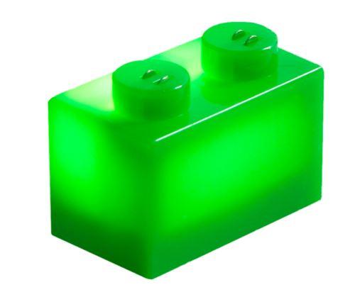 25 x STAX® 1x2 grün matt - LEGO®-kompatibel