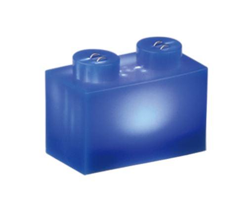 25 x STAX® 1x2 blau matt - LEGO®-kompatibel