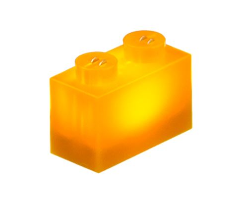 25 x STAX® 1x2 orange matt - LEGO®-kompatibel