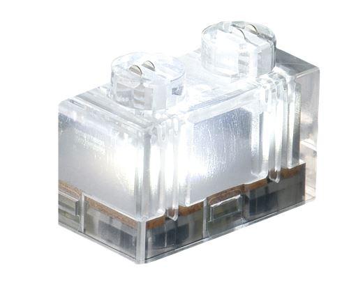 25 x STAX® 1x2 weiß transparent - LEGO®-kompatibel
