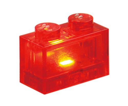 25 x STAX® 1x2 rot transparent - LEGO®-kompatibel