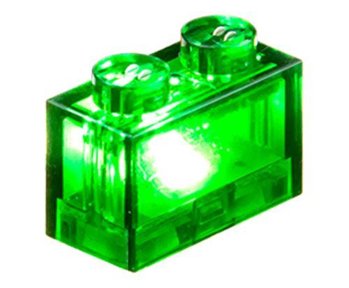 25 x STAX® 1x2 grün transparent - LEGO®-kompatibel