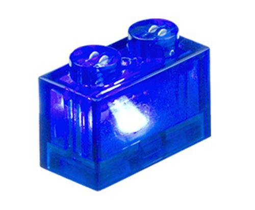 25 x STAX® 1x2 blau transparent - LEGO®-kompatibel