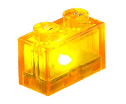 25 x STAX® 1x2 orange transparent - LEGO®-kompatibel