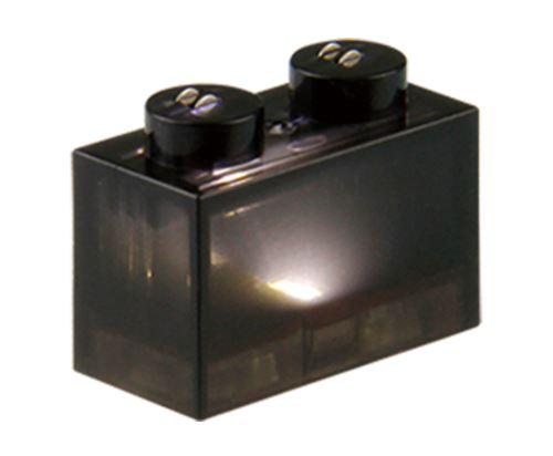 25 x STAX® 1x2 schwarz transparent - LEGO®-kompatibel