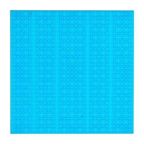 OPEN BRICKS Bauplatte 32 x 32 Transparent Blau