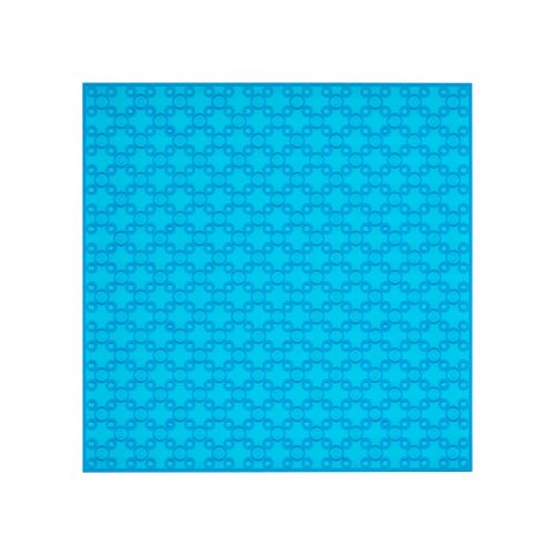 OPEN BRICKS Bauplatten 20 x 20 Transparent Blau