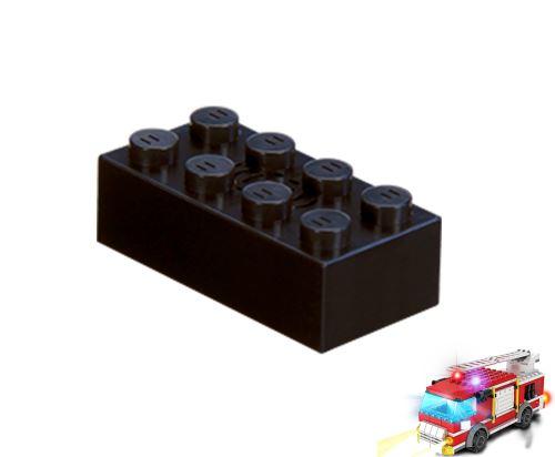 STAX ® Sound STAX 2x4 schwarz Feuerwehrwagen - LEGO®-kompatibel