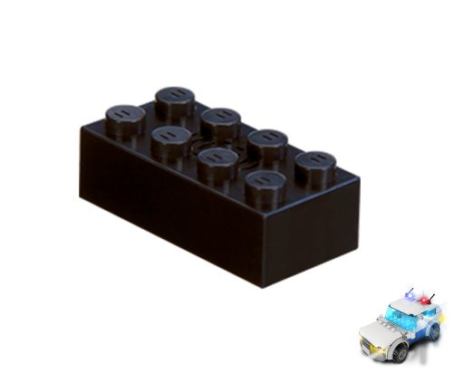 STAX ® Sound STAX 2x4 schwarz Polizei - LEGO®-kompatibel