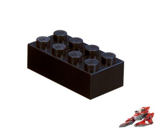STAX ® Sound STAX 2x4 schwarz Raumschiff - LEGO®-kompatibel