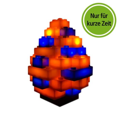 STAX® Osterei orange/blau matt