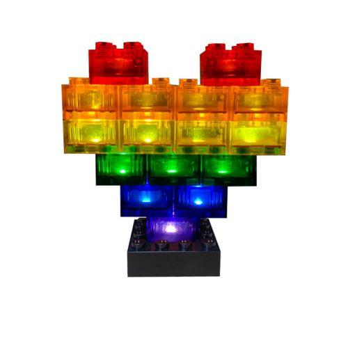 STAX ® Herz Pride transp. - LEGO®-kompatibel